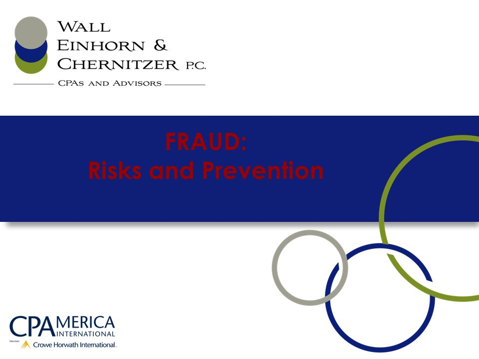 FRAUD: Risks and Prevention