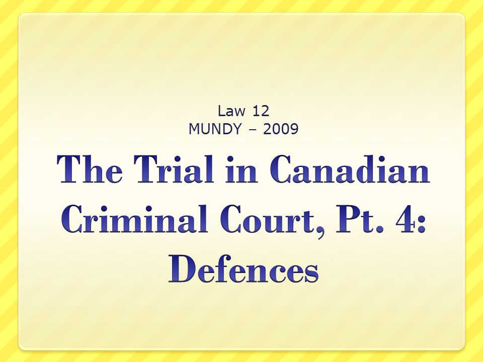 Law 12 MUNDY – 2009