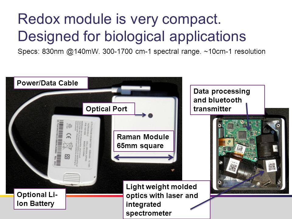 Redox module is very compact.