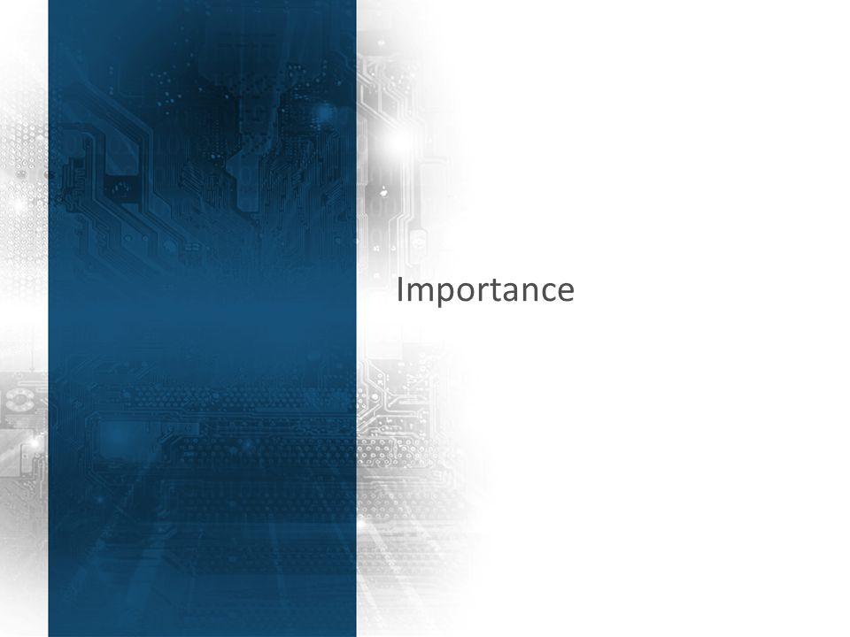 3 Importance
