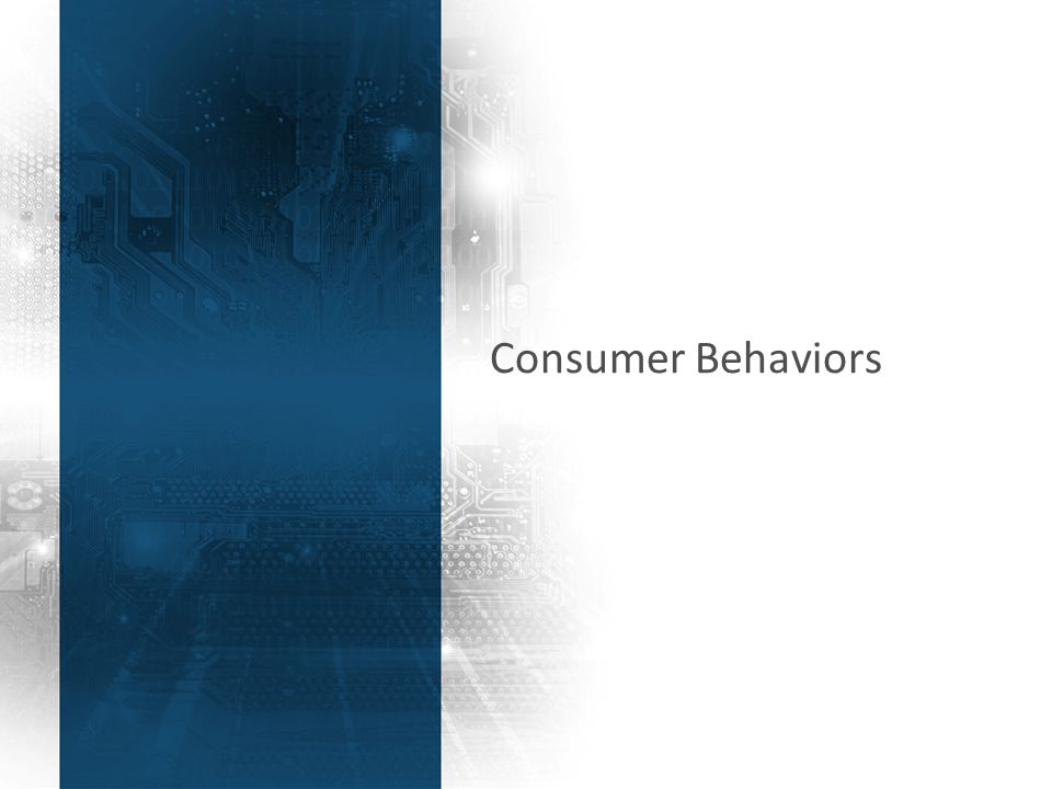 36 Consumer Behaviors