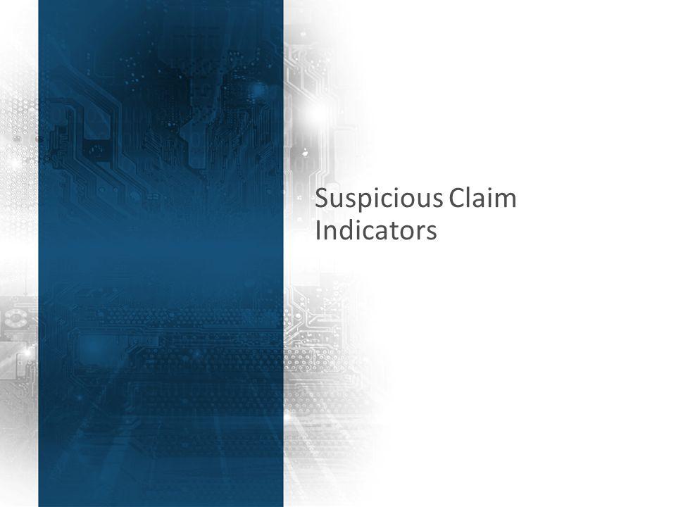 44 Suspicious Claim Indicators