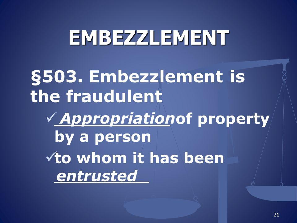 EMBEZZLEMENT §503.