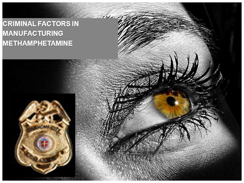 CRIMINAL FACTORS IN MANUFACTURINGMETHAMPHETAMINE