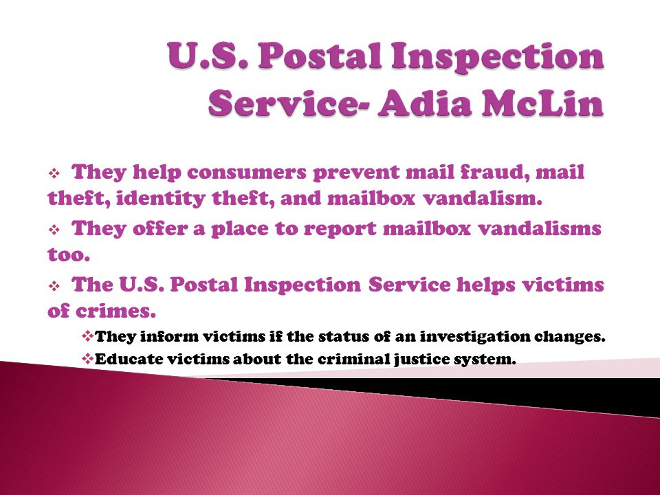  They help consumers prevent mail fraud, mail theft, identity theft, and mailbox vandalism.