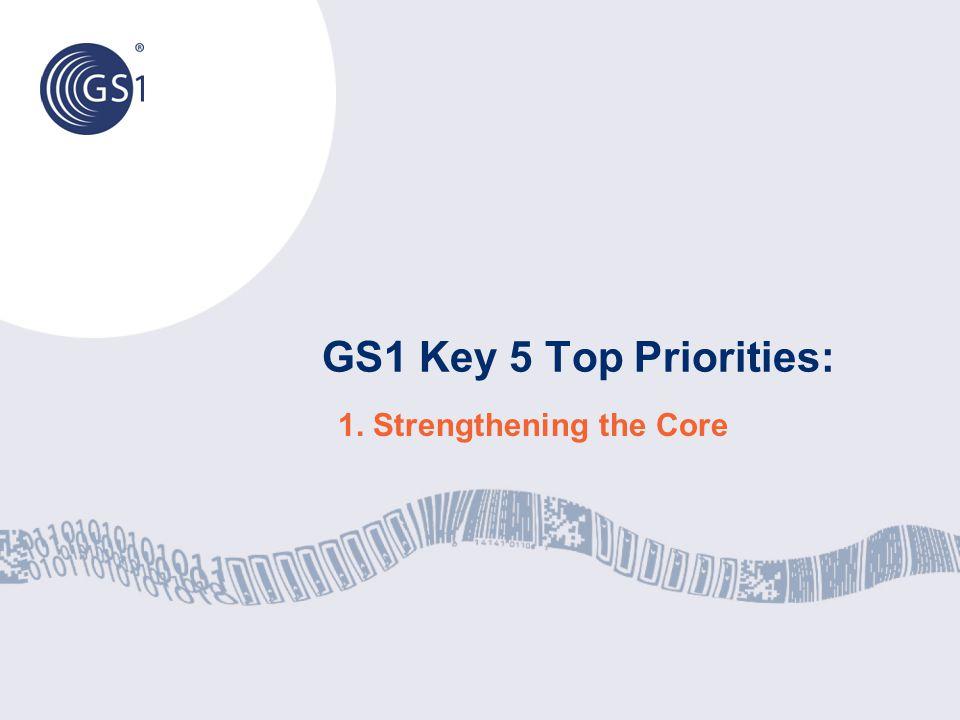 GS1 Key 5 Top Priorities: 1. Strengthening the Core