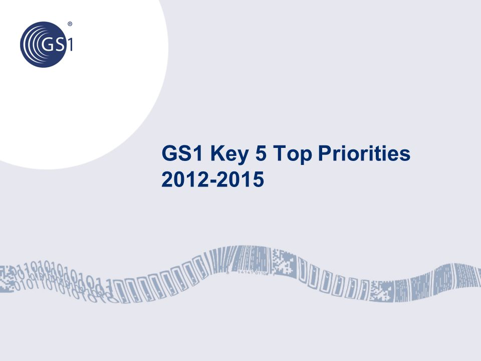 © 2012 GS1 Top 5 Priorities 2012/15 – MB Approved 1.Continue strengthening our Core: providing Excellent Service to our Core Strategic Sectors (Retail, Healthcare, and Transport & Logistics) by driving the GS1 System (AIDC, eCom, GDSN, and EPC) 2.Become a key player in the connected world (internet) by: Business-to-Consumer (B2C) Data Quality (DQ) Visibility 3.Winning and engaging New Strategic Sectors 4.Step-change GS1 Brand Awareness by implementing the new Brand Architecture 5.Continue developing a world-class, interdependent organisation 4 Driving Momentum Together