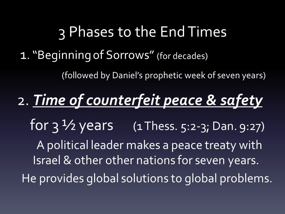 3 Phases to the End Times 1.