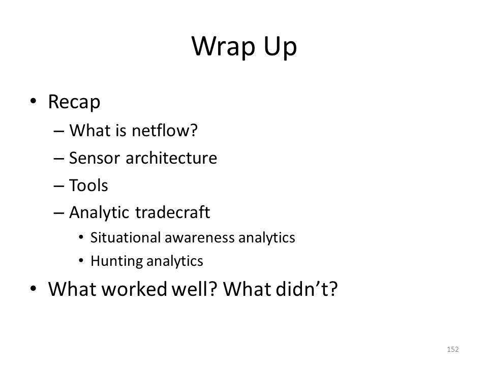 Wrap Up Recap – What is netflow.