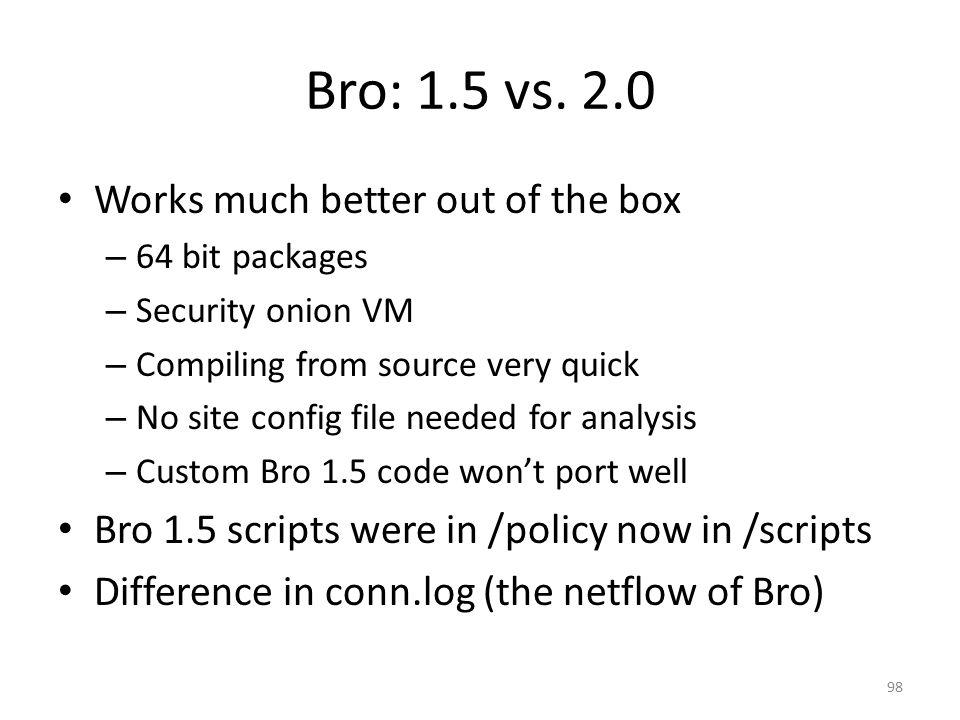 Bro: 1.5 vs.