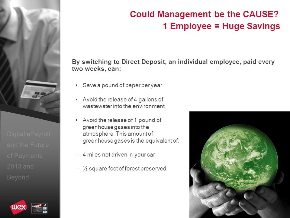 Digital ePayroll and the Future of Payments 2013 and Beyond What about FREE Checking.
