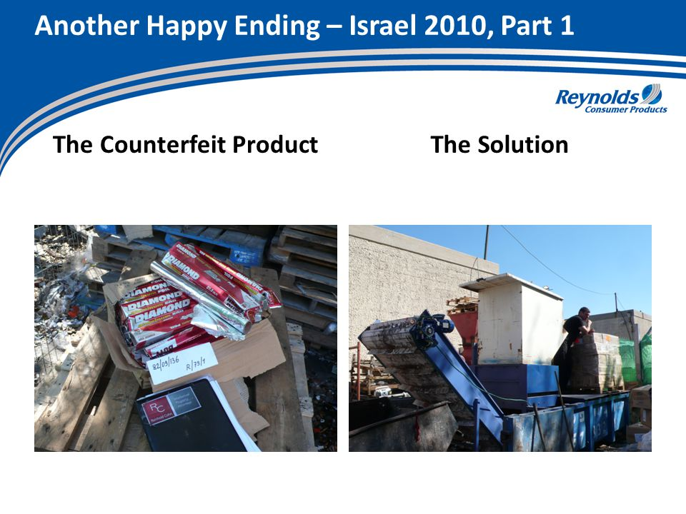 Another Happy Ending – Israel 2010, Part 1 The Counterfeit ProductThe Solution