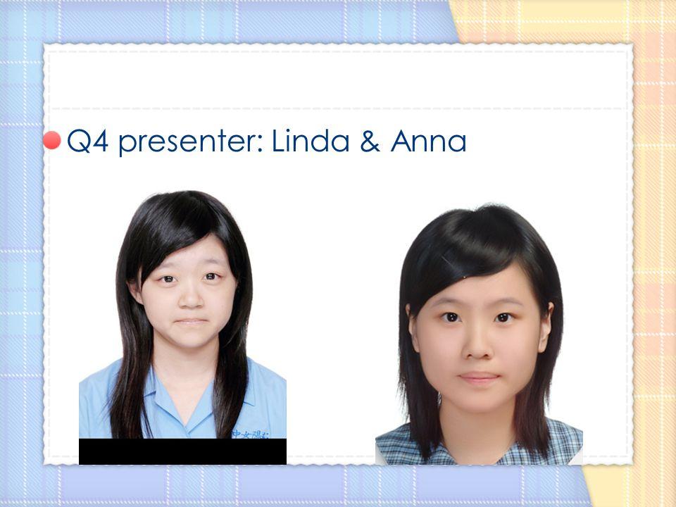 Q4 presenter: Linda & Anna