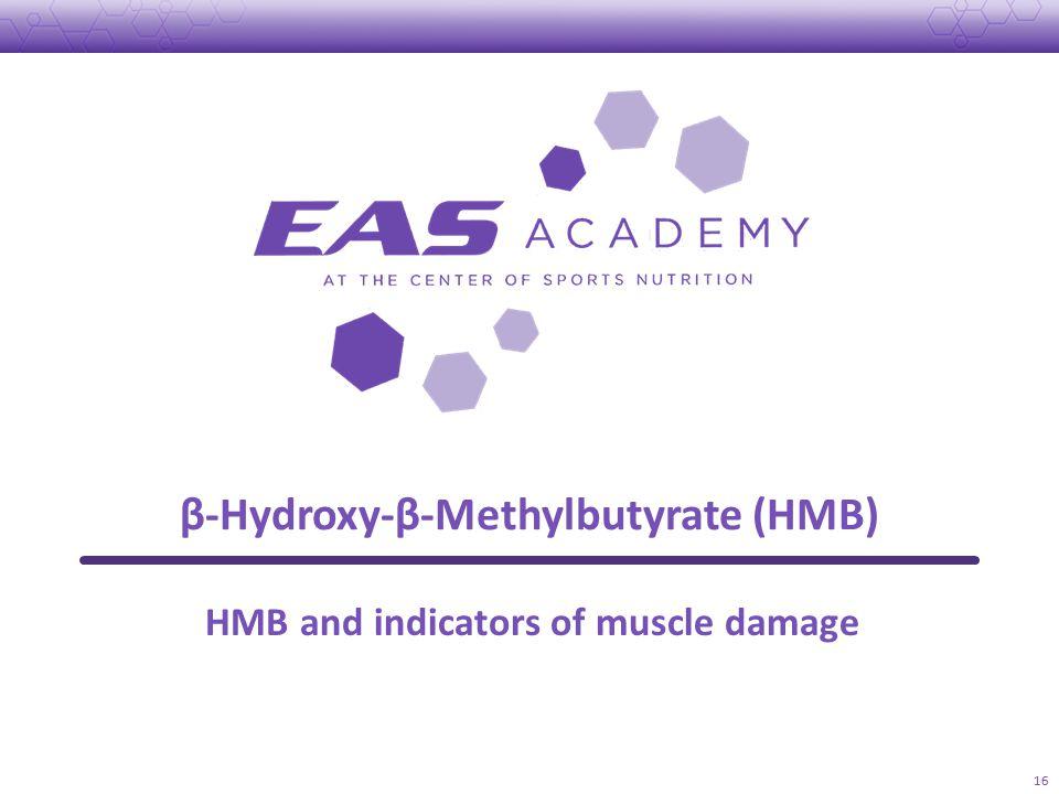 β-Hydroxy-β-Methylbutyrate (HMB) 16 HMB and indicators of muscle damage