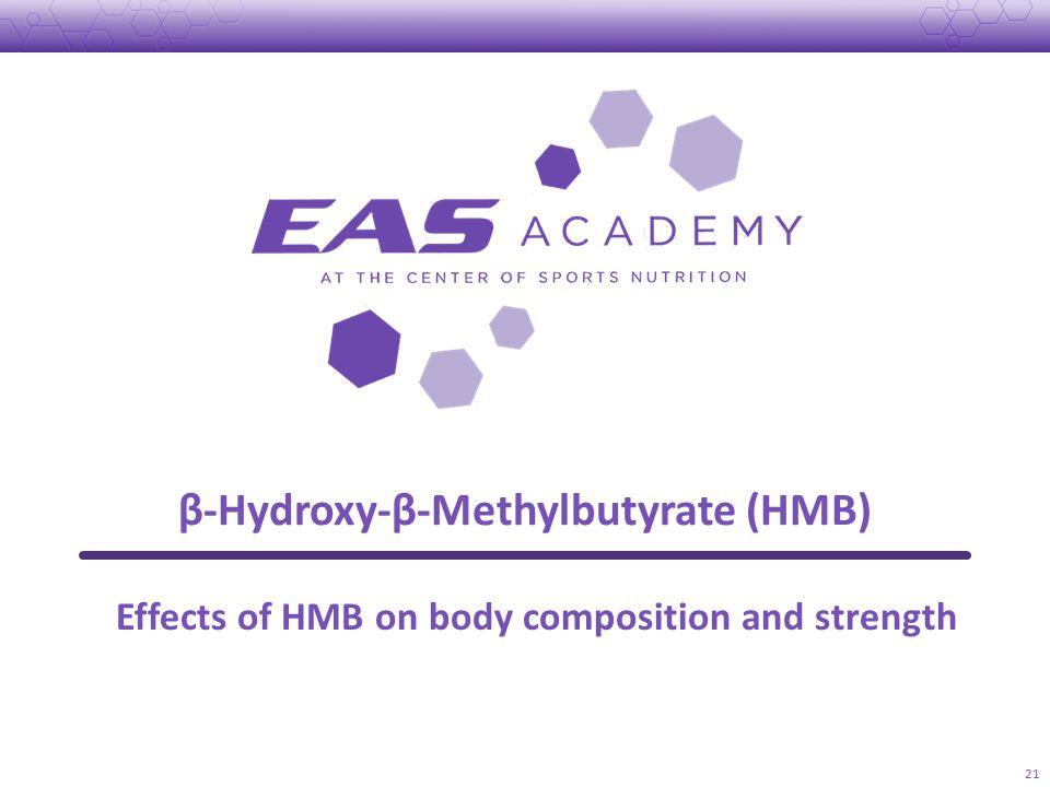 β-Hydroxy-β-Methylbutyrate (HMB) 21 Effects of HMB on body composition and strength