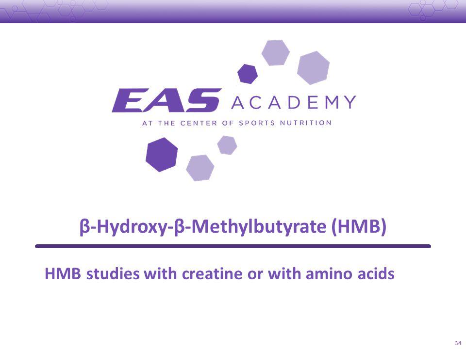β-Hydroxy-β-Methylbutyrate (HMB) 34 HMB studies with creatine or with amino acids