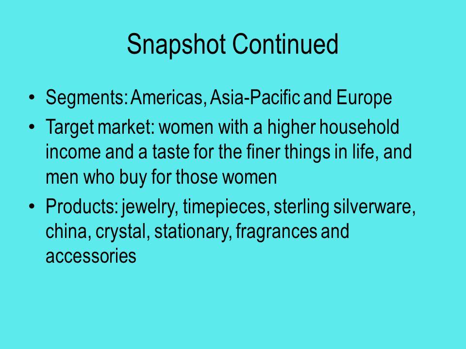 Tiffany & Co By: Kelli Monk Internal Analysis