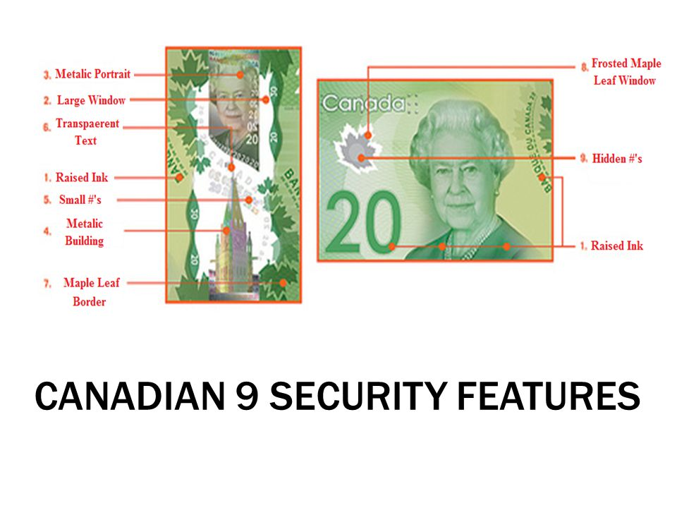 CANADIAN 9 SECURITY FEATURES