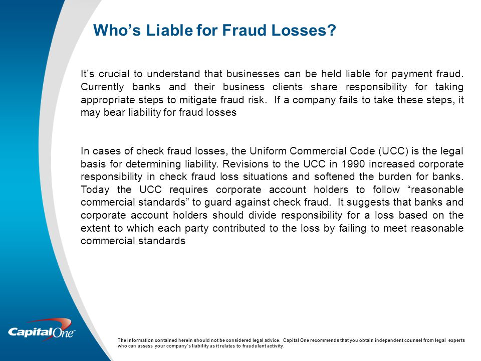Who's Liable for Fraud Losses.