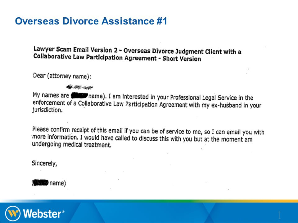 Overseas Divorce Assistance #1
