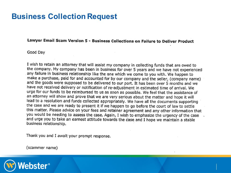 Business Collection Request
