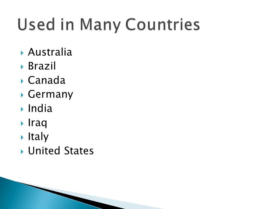  Australia  Brazil  Canada  Germany  India  Iraq  Italy  United States