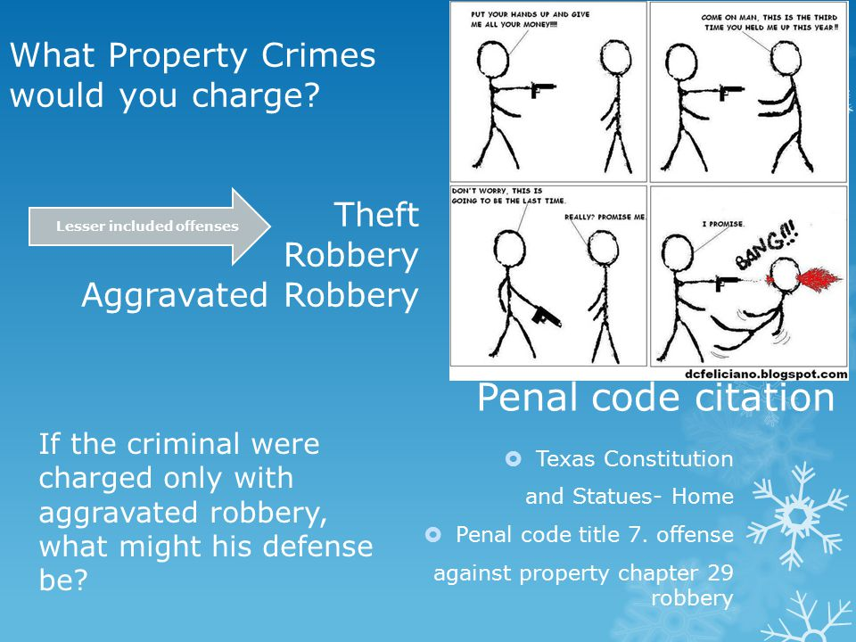 Penal code citation  Texas Constitution and Statues- Home  Penal code title 7.