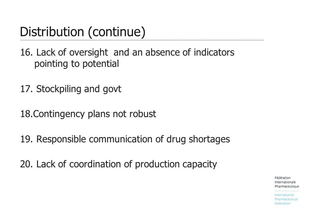 Distribution (continue) 16.