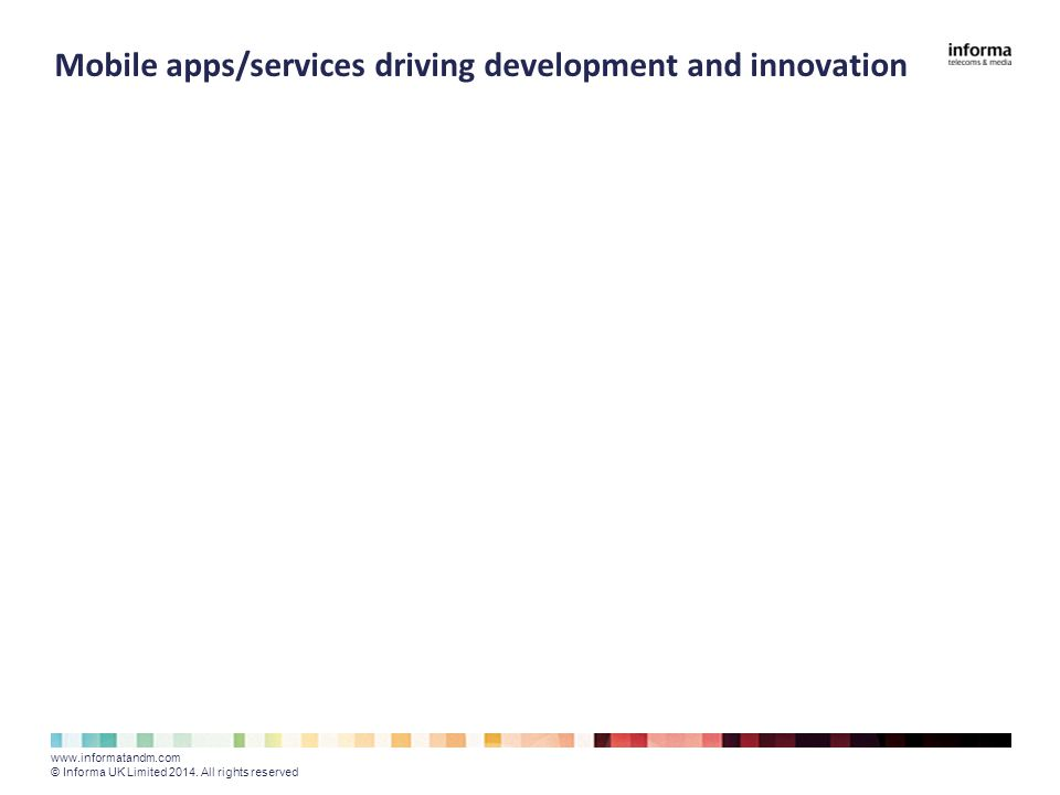 Mobile apps/services driving development and innovation www.informatandm.com © Informa UK Limited 2014.