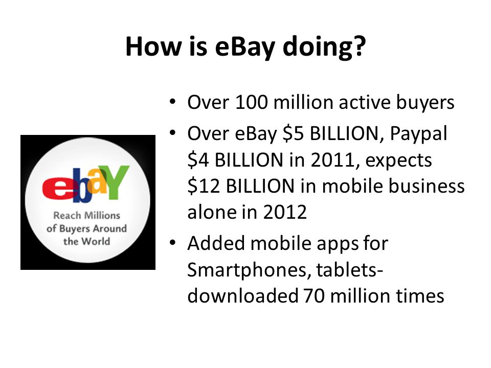 How is eBay doing.