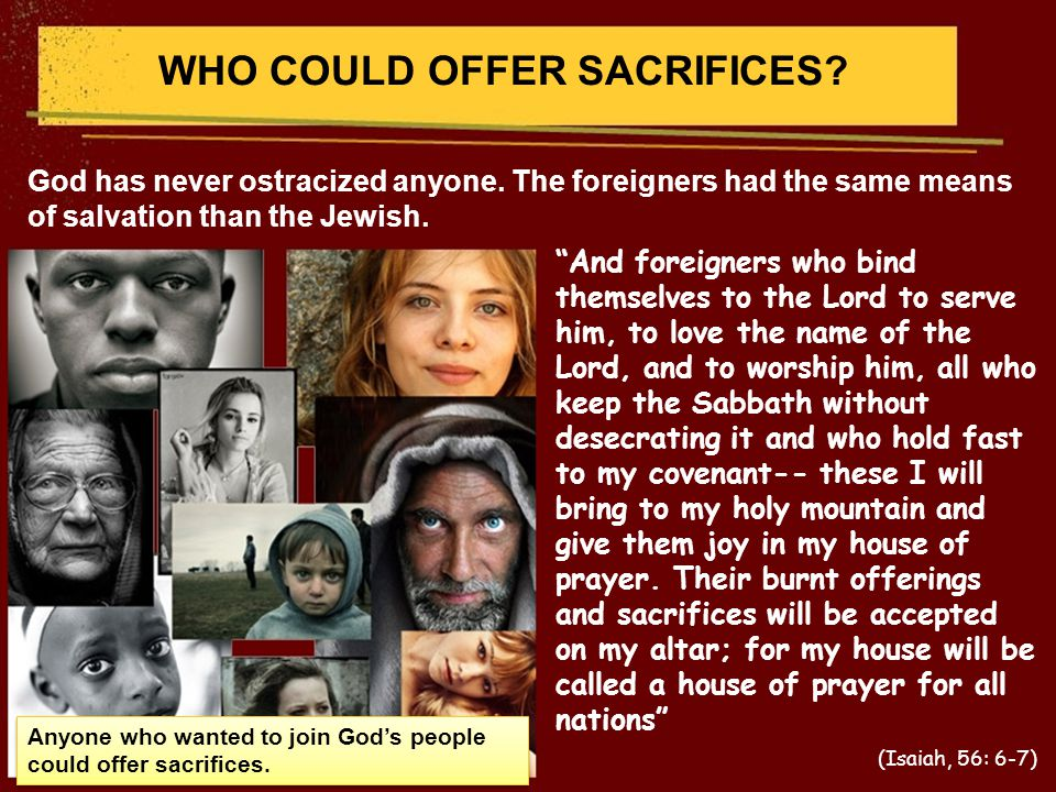 WHO COULD OFFER SACRIFICES.