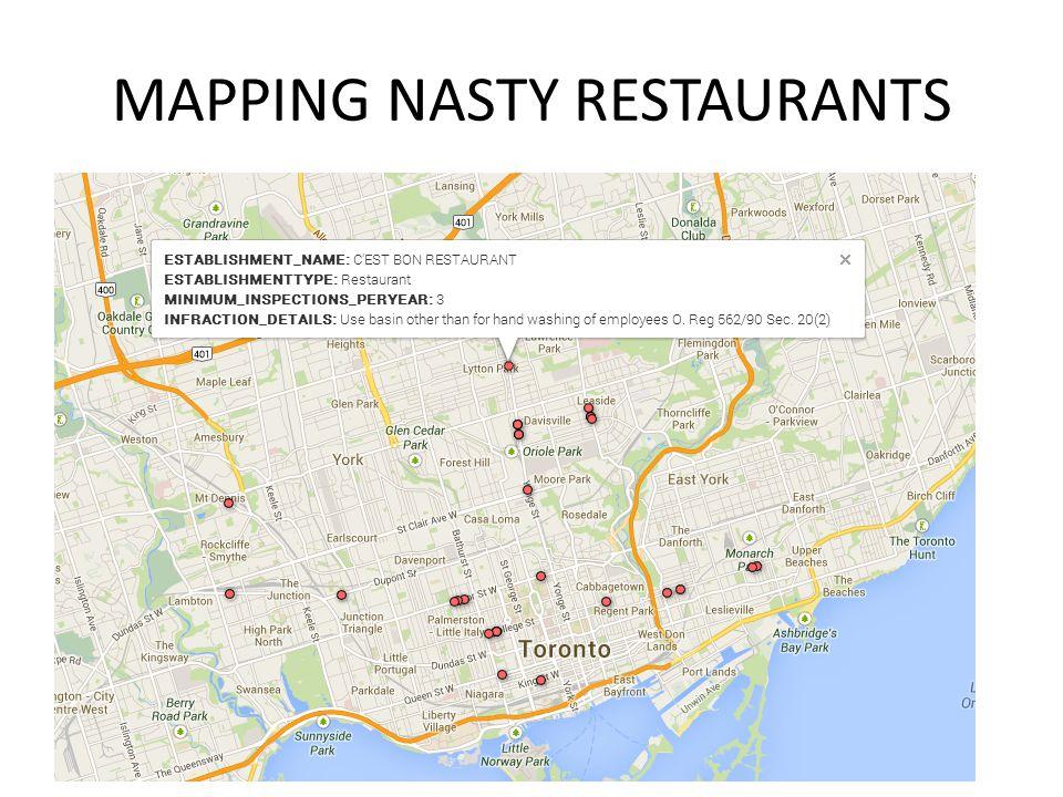 MAPPING NASTY RESTAURANTS