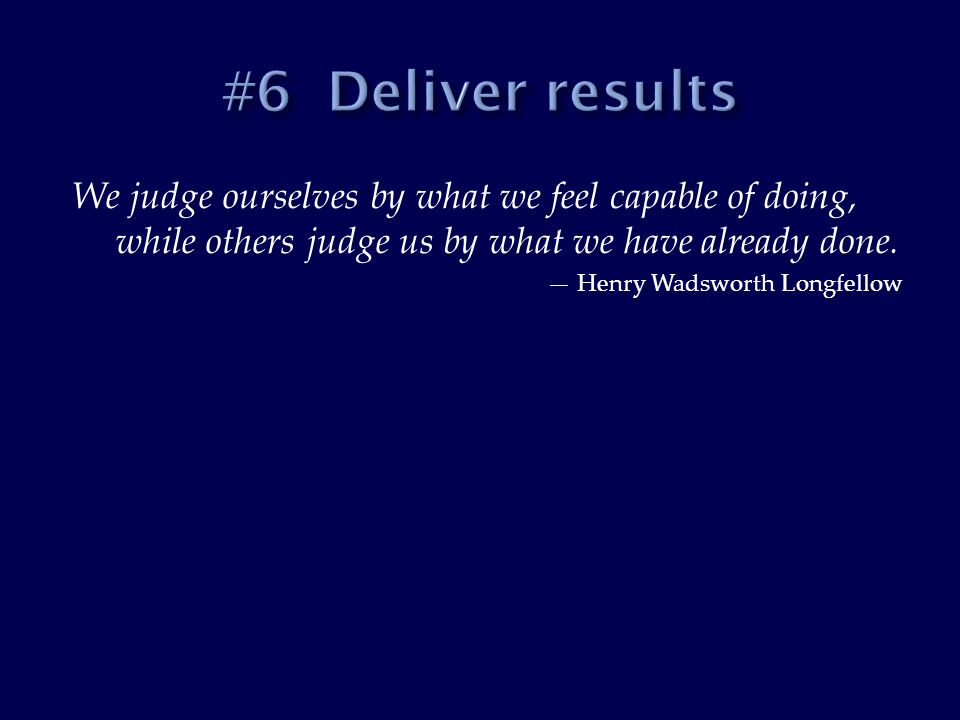We judge ourselves by what we feel capable of doing, while others judge us by what we have already done.