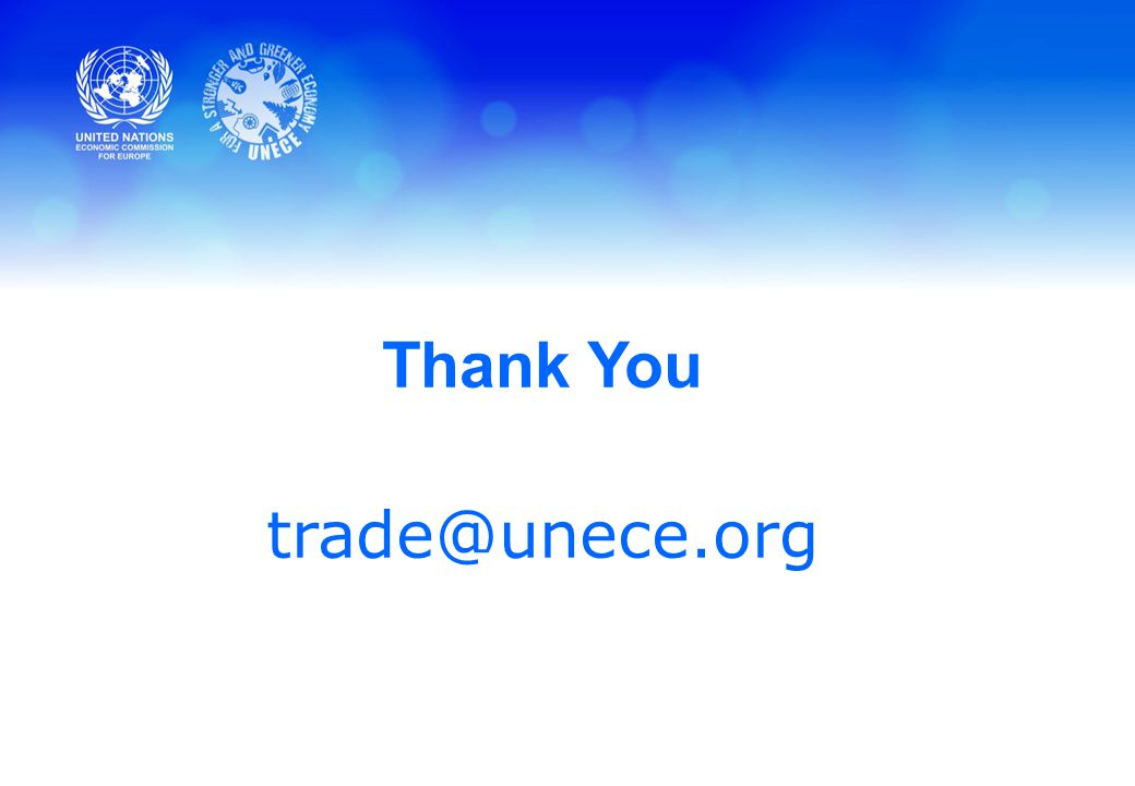 Thank You trade@unece.org
