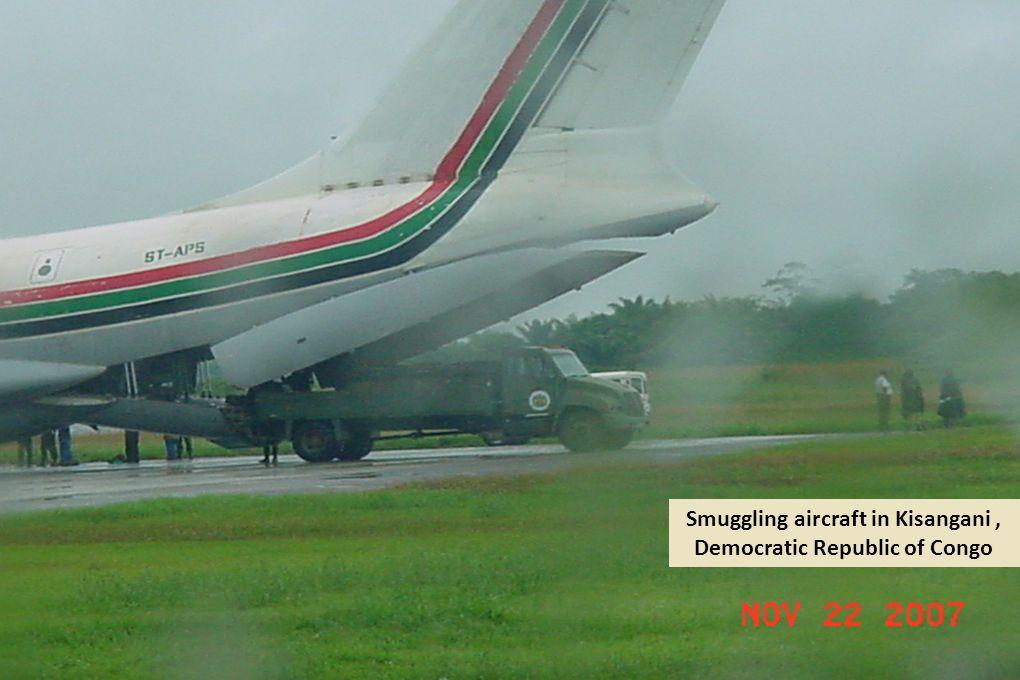 Smuggling aircraft in Kisangani, Democratic Republic of Congo