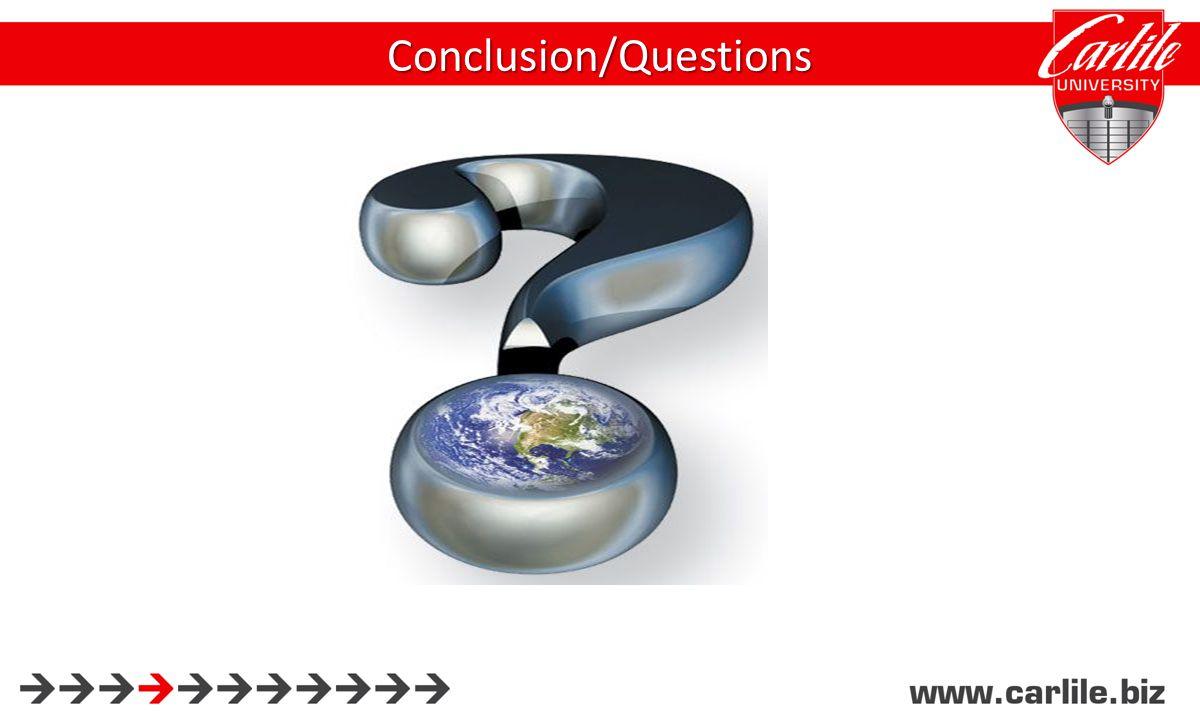 Conclusion/Questions