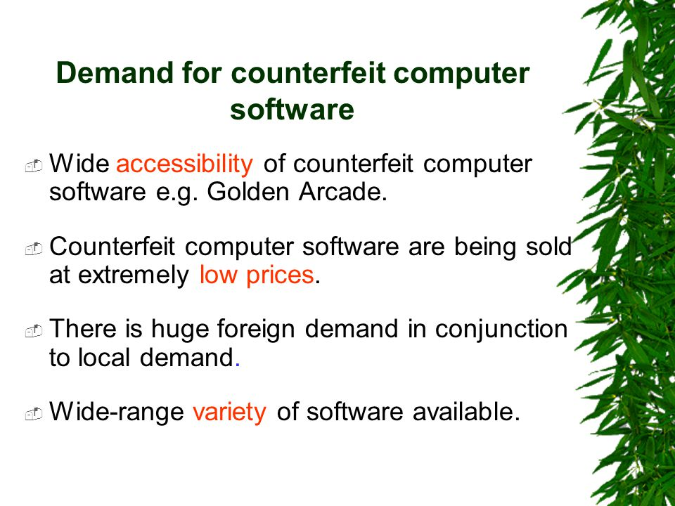 Conclusion  The cause of software piracy is a mix of a number of different factors.