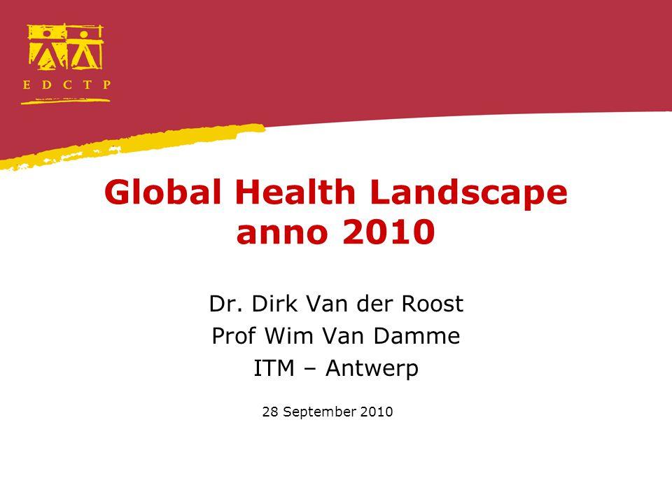 Global Health Landscape anno 2010 Dr.