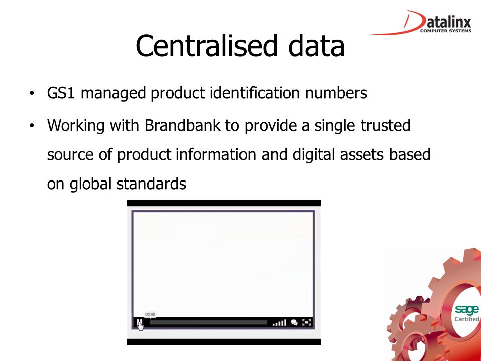 Centralised data GS1 managed product identification numbers Working with Brandbank to provide a single trusted source of product information and digit