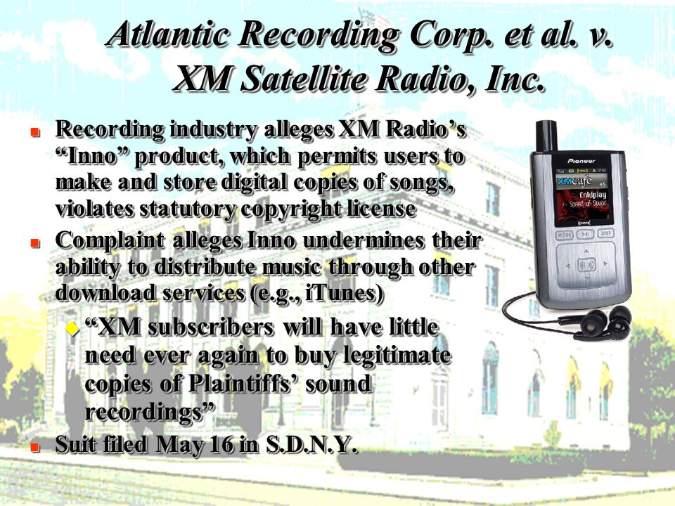 15 Atlantic Recording Corp. et al. v. XM Satellite Radio, Inc.