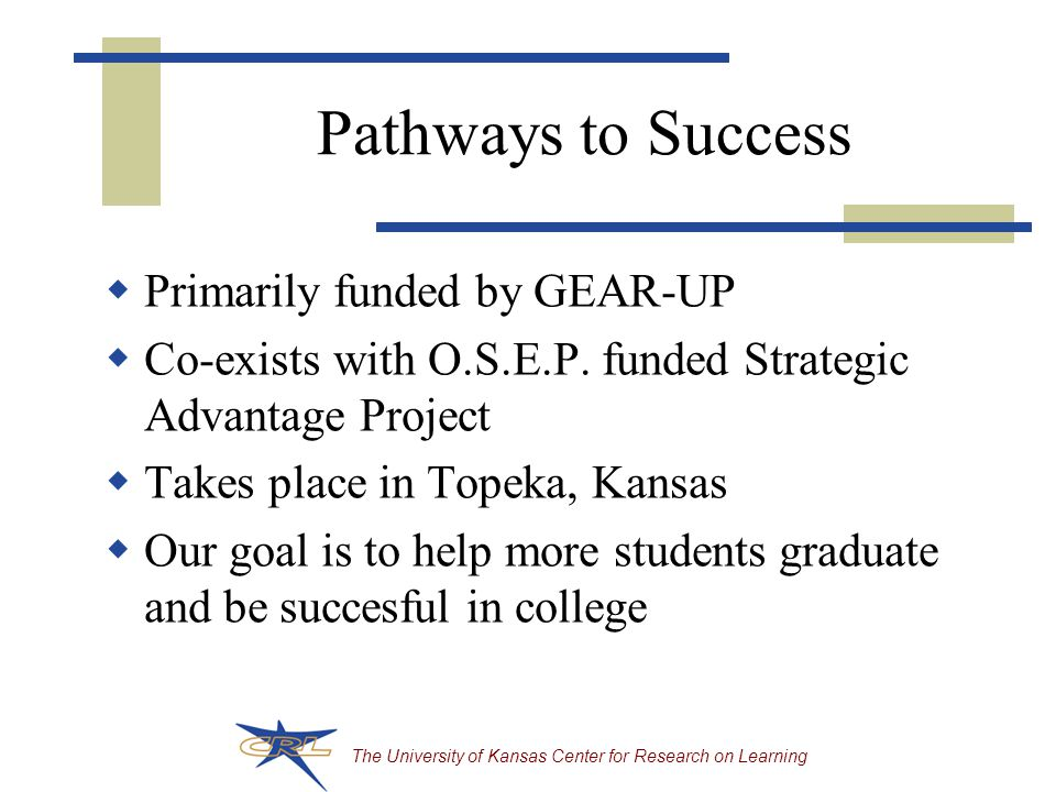 The University of Kansas Center for Research on Learning Your chance to talk  What have you been thinking about as you've heard about the instructional hierarchy  Where do you think your project should start if you wish to build a foundation for instructional excellence?