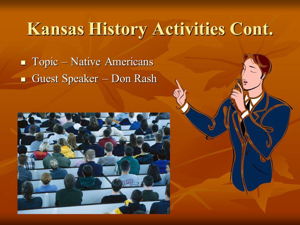 Kansas History Activities Cont. Sample The Buffalo worksheets. Sample The Buffalo worksheets.