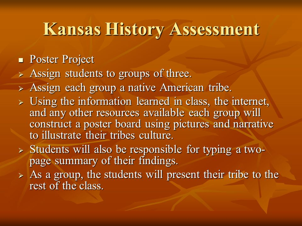 Kansas History Activities Cont. Topic – Native Americans Guest Speaker – Don Rash