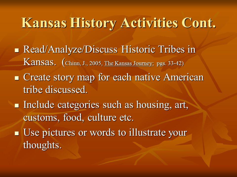 Kansas History Activities Cont.