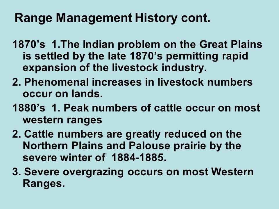 Range Management History cont.