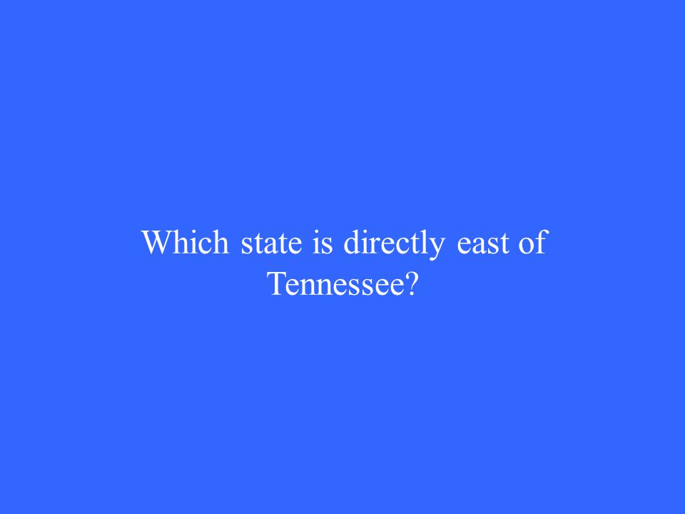 Which state is directly east of Tennessee