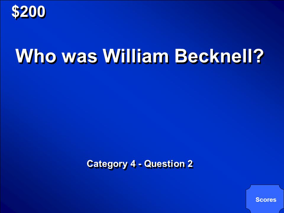 © Mark E. Damon - All Rights Reserved $200 Trader from Missouri who helped start the Santa Fe Trail. Category 4 - Question 2 Trader from Missouri who