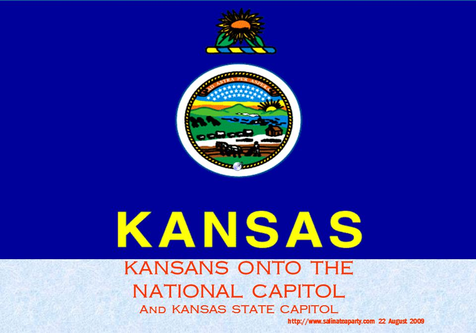 KANSANS ONTO THE NATIONAL CAPITOL And KANSAS STATE CAPITOL http://www.salinateaparty.com 22 August 2009