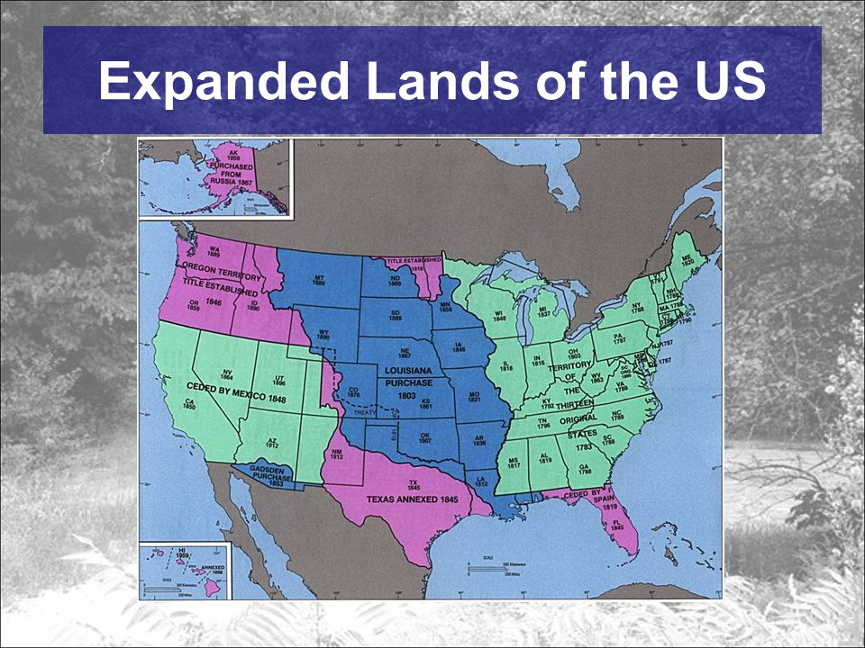 Expanded Lands of the US