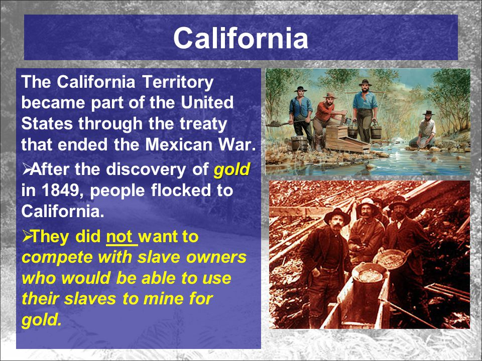 California applied to be a 'free soil' state, what does 'free soil' mean.